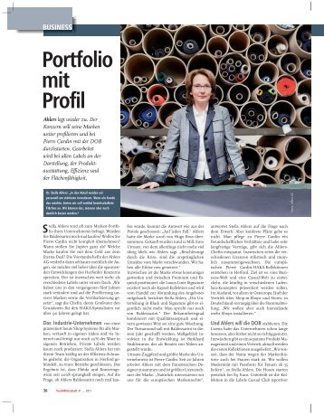 portfolio mit profil - Ahlers AG