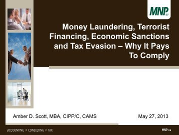 Money Laundering, Terrorist Financing, Economic Sanctions ... - CIFPs