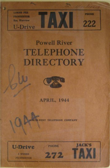 General Information - Powell River Historical Museum