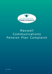 Maxwell Communications Pension Plan Complaint - the ...