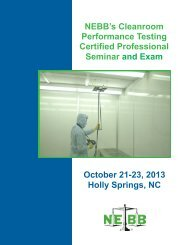 NEBB's Cleanroom Performance Testing Certified Professional ...