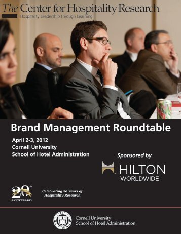 Brand Management Roundtable - Cornell School of Hotel ...