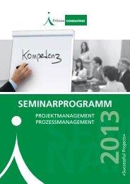 Seminarprogramm 2013 - Ready for certification in 1 week