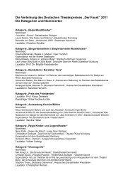 """Die Verleihung des Deutschen Theaterpreises """"Der ... - Oper Frankfurt"""