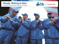 Ready, Willing & Able - National Coalition for Homeless Veterans