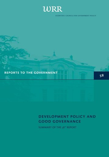 DEVELOPMENT POLICy AND GOOD GOVERNANCE
