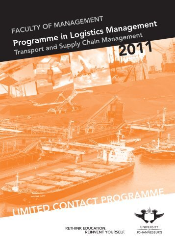 LIMITED CONTACT PROGRAMME - University of Johannesburg