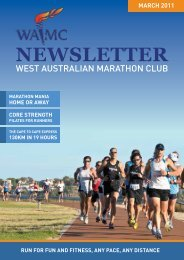 March 2011 Newsletter - West Australian Marathon Club