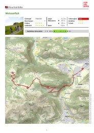 Mountainbike Weissenfluh