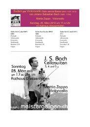 Cellosuiten 28 Maerz 2010