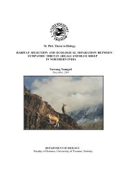 M. Phil. Thesis in Biology HABITAT SELECTION AND ECOLOGICAL ...