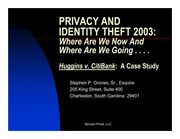 PRIVACY AND IDENTITY THEFT 2003: Where Are ... - Best Lawyers