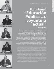 """""""Educación Pública en la coyuntura actual"""" - Revista Docencia"""