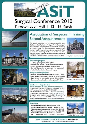 Second Announcement - The Association of Surgeons in Training