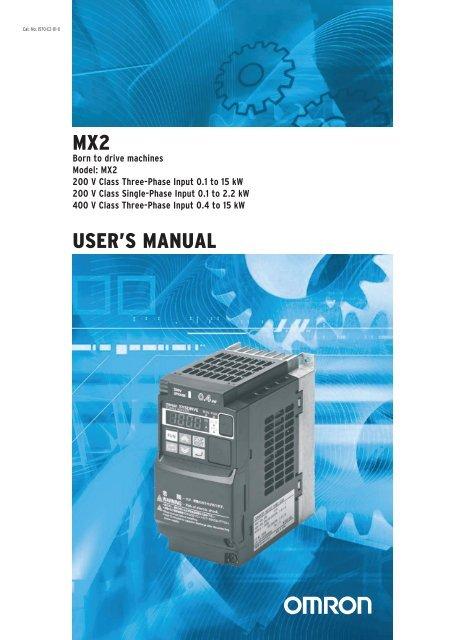 MX2 Users Manual - Omron Europe on