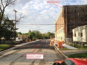 Wellesley Drive - Full Depth Replacement / Widening / Sidewalk ...