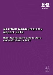 Scottish Renal Registry Report 2010 - The Scottish Renal Registry