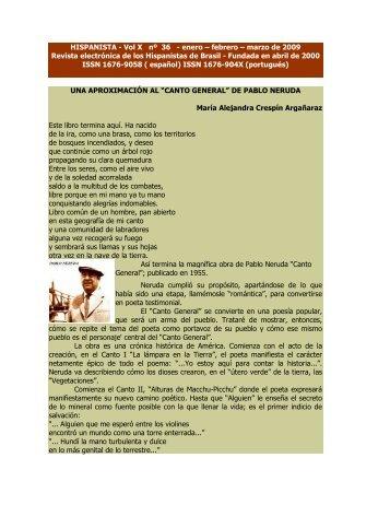 HISPANISTA - Vol X nº 36 - enero – febrero – marzo de 2009 ...