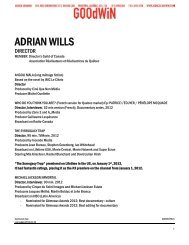 ADRIAN WILLS - Agence Goodwin