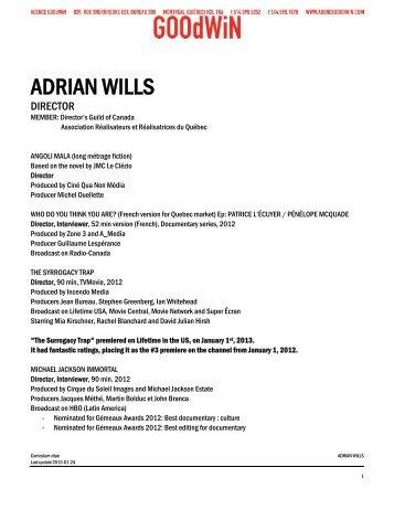 ADRIAN WILLS - Agence Goodwin