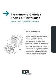 Programmes Grandes Ecoles et Universités - Inpi