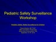 Pediatric Safety Surveillance Workshop