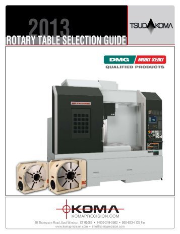 Tsudakoma DMG - Koma Precision, Inc.