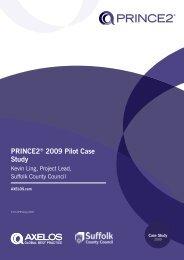 PRINCE2® 2009 PILOT CASE STUDY - Best Management Practice