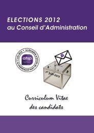 Consulter les CV... - Association française de science politique ...