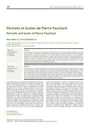 Portraits et bustes de Pierre Fauchard - Bibliothèque ...