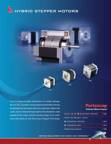 hybrid stepper motors
