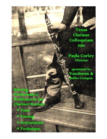 Articulation - Clarinet City