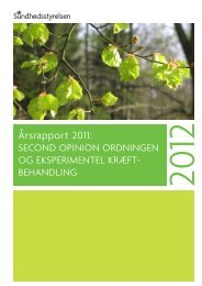 Årsrapport 2011: Second opinion ordningen og eksperimentel ...