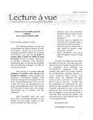 Octobre 2004 - Faculté de musique