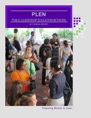 plen ambassador program - Public Leadership Education Network