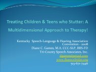 Treating Children & Teens Who Stutter - Fluency Friday Plus