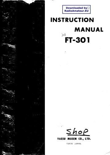 YAESU - FT-301 User manual - RadioManual.eu
