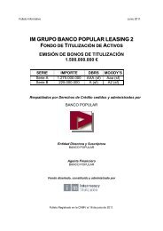 im grupo banco popular leasing 2 fondo de ... - BME Renta Fija