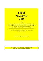 FILM MANUAL 2010 - Film and Music Austria