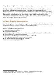 Vragenlijst 'identitovigilantie' voor het uitvoeren van een ...