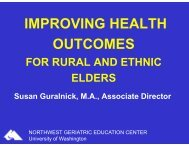 Improving Health Outcomes for Rural and Ethnic Elders - National ...