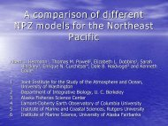 A comparison of different NPZ models for the Northeast Pacific - PICES