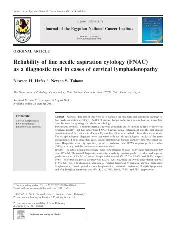 Reliability of fine needle aspiration cytology (FNAC) as a ... - NCI