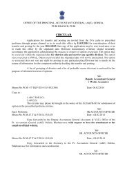 CIRCULAR - Accountant General, Odisha