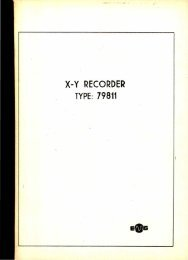 EMG 79811 NE 230 X-Y RECORDER