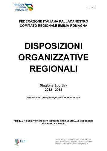 campionati seniores ad organizzazione regionale - Federazione ...