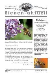 Bienen-aktuell Nr.68.indd - Liechtensteiner Imkerverein