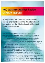 NGO Alliance Against Racism Shadow Report to CERD - The Irish ...