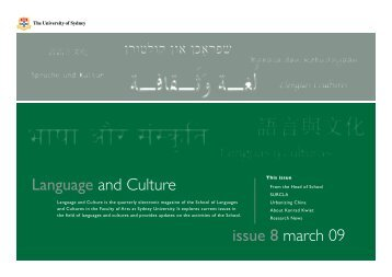 Language and Culture issue 8 march 09 - The University of Sydney
