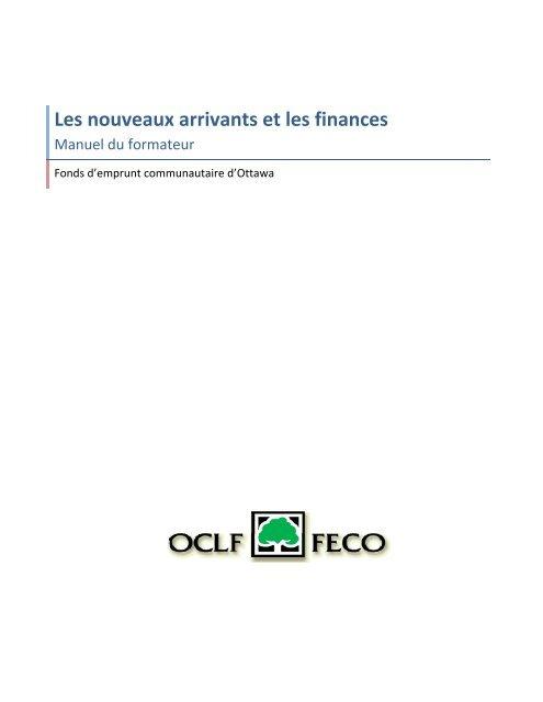 Les nouveaux arrivants et les finances - Base de données en ...